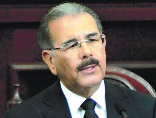 El presidente Danilo Medina