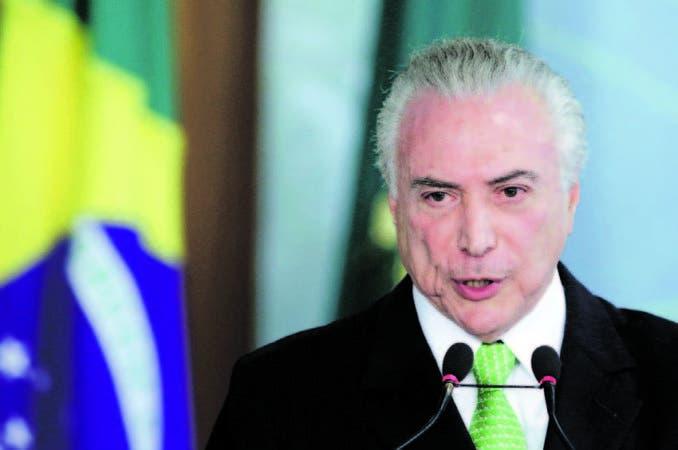 El presidente de Brasil, Michel Temer, atraviesa por un momento difícil.