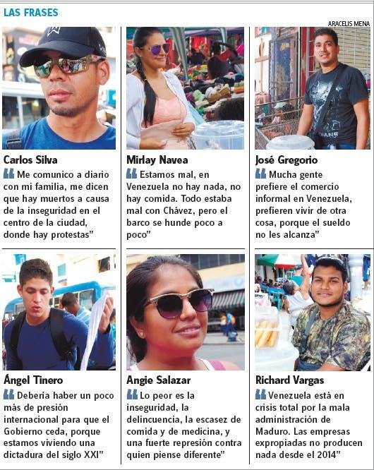 Venezolanos en RD afirman  crisis los lleva a dictadura