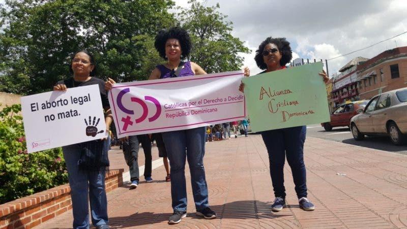 Alianza Cristiana Dominicana en manifestación de apoyo a 3 causales.