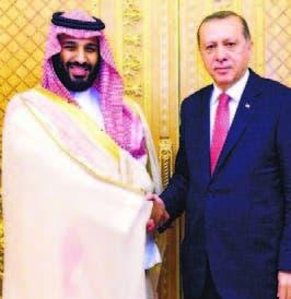 Erdogan junto al príncipe saudí