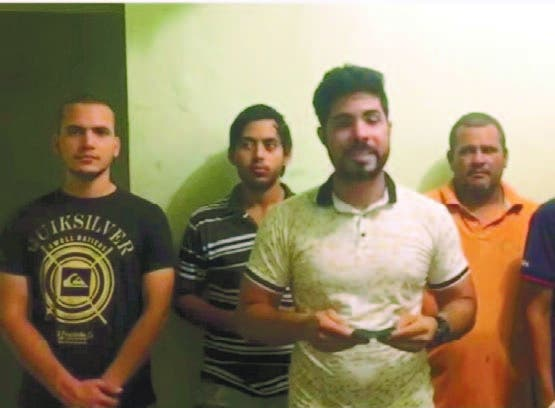 Gerard Araujo junto a otros venezolanos detenidos en Haina