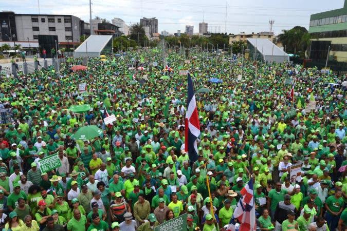 Marcha Verde, Santo Domingo. 16-07-17. // Fuente Externa.