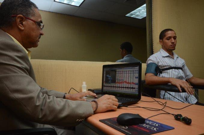 Robert José Antonio Abreu Peña, durante una entrevista en DNCD. Santo Domingo República Dominicana. 25 de julio de 2017.  Foto Pedro Sosa