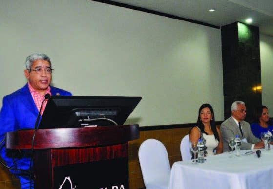 Luis Manuel Pérez Méndez durante su intervención