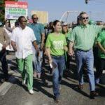 Luis y su esposa Raquel durante una de las movilizaciones que realizara el movimiento Marcha Verde.