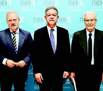 Manuel Campo Vidal, Leonel Fernández y Antonio