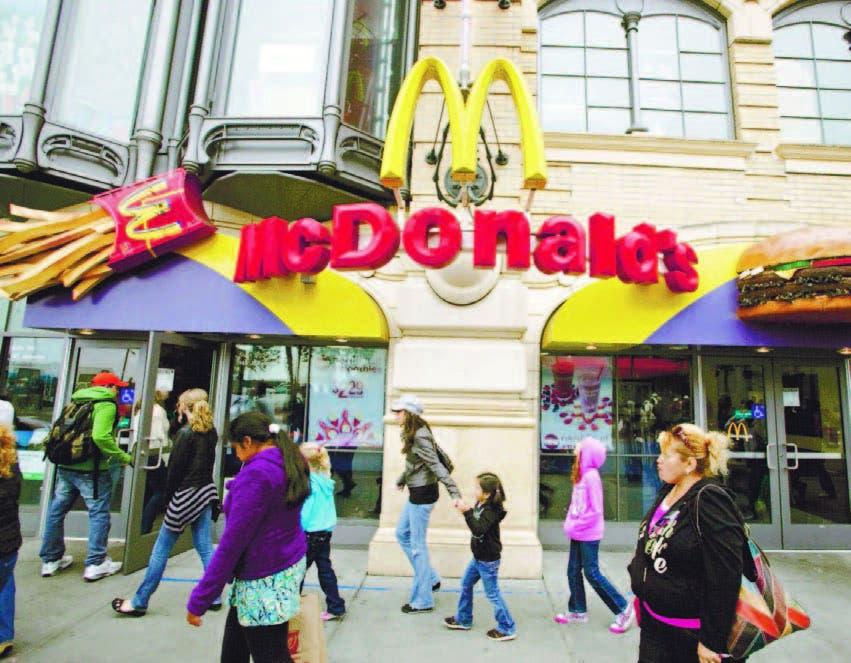 McDonald's busca crecer en la 'zona muerta'  comida rápida