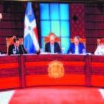 Miembros del Consejo Nacional de la Magistratura que preside el presidente Danilo Medina