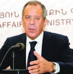 Sergei Lavrov, ministro ruso de Relaciones Exteriores