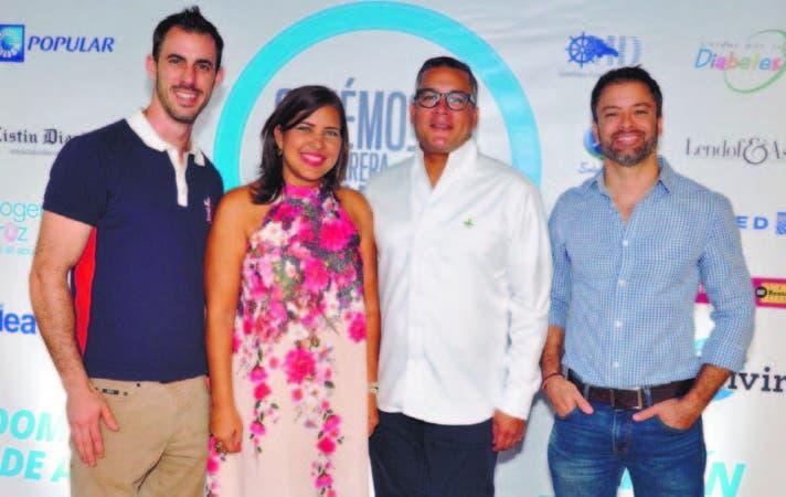 Tony Bernal, Cynthia Modesto, José López y Ricardo Piantini
