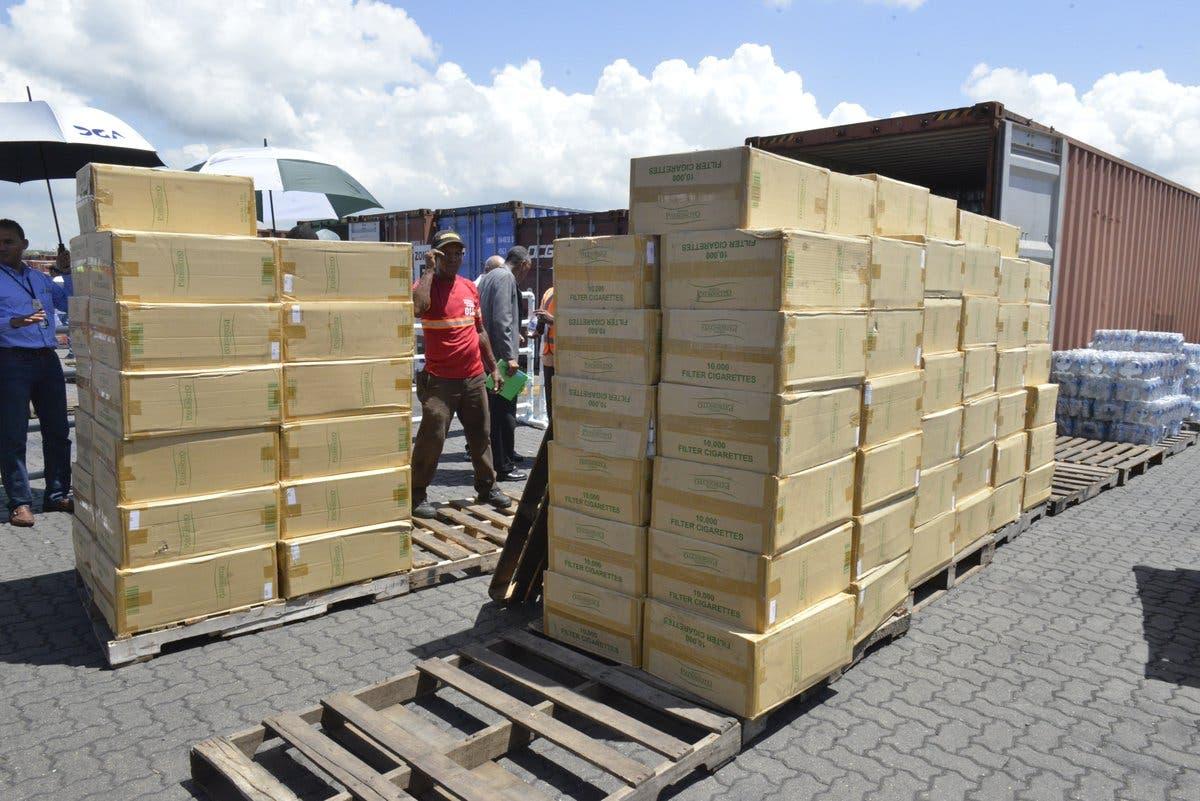 Aduanas incauta siete millones de cigarrillos en puerto de Haina Oriental