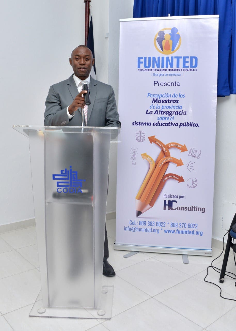 Liemier Laba Gabriel, presidente de Funinted, institución que encargó el estudio sobre el Sistema Educativo Público en La Altagracia.