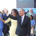 El presidente Danilo Medina junto a su esposa, la primera dama Cándida Montilla de Medina. Foto: Presidencia RD.