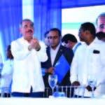 El presidente Danilo Medina en una inauguración