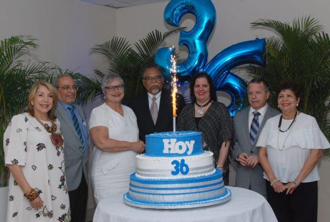 Rostros. Celebración del 36 aniversario del periódico HOY.