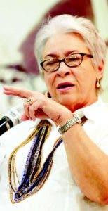 La ministra Altagracia Guzmán Marcelino.