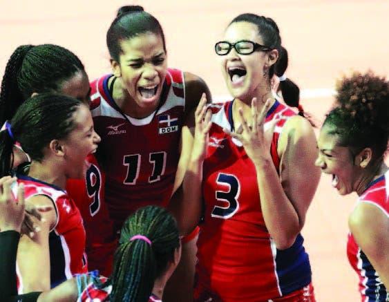 Las infantiles dominicanas celebran el pase a la semifinal hoy en U-18