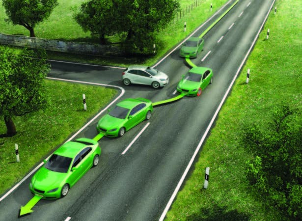 Los frenos ABS o 'Anti-Lock Braking System' permite frenadas bruscas aún con el auto en curva