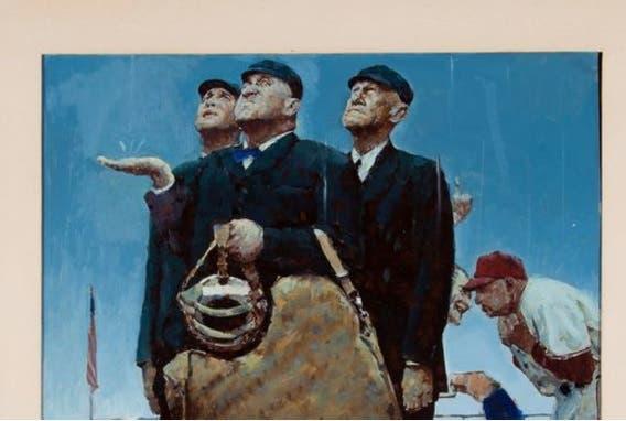 Pintura de Norman Rockwell sobre béisbol vendida en subasta por 1,6 millón