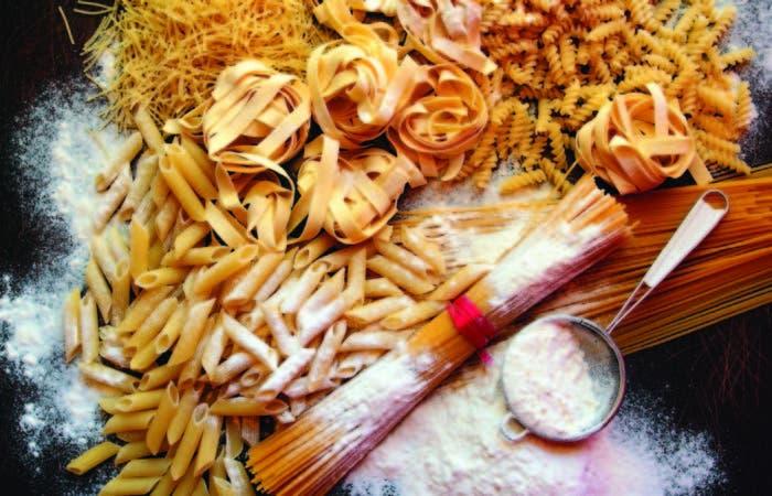 Una variedad de pastas de la Asociación de las industrias del dulce y de la pasta italiana