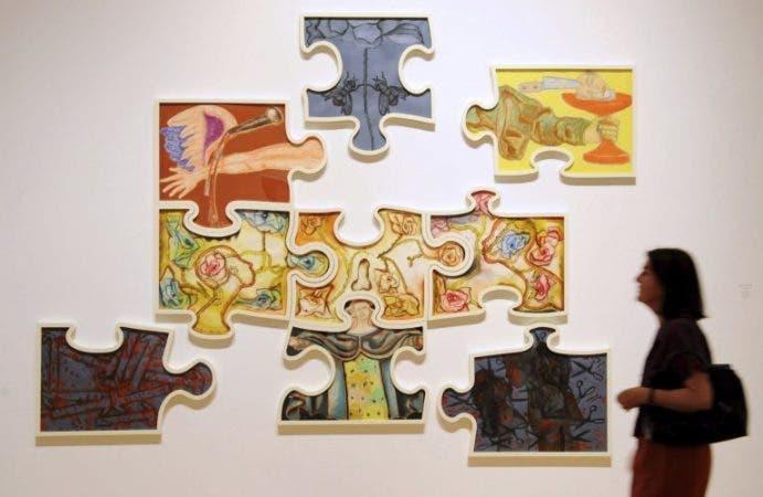 La obra del pintor italiano Francesco Clemente, Jigsaw puzzle (2009) ALEMANIA/EFE/ARNE DEDERT.