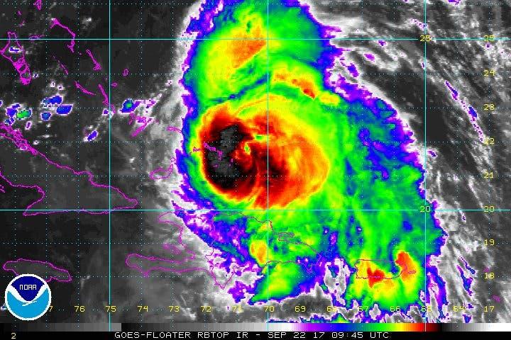 El huracán María se acerca a las islas de Turcas y Caicos; deja peligrosas lluvias en RD y Haití