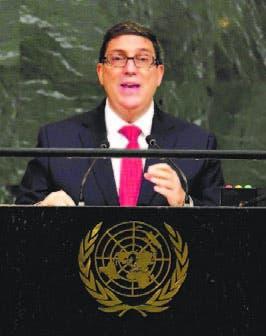 Bruno Rodríguez, canciller Cuba