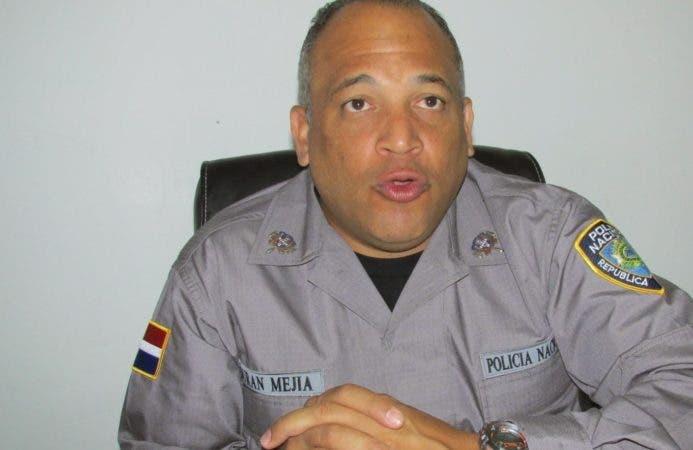 Vocero de la PN,  Frank Félix Durán Mejía. Fuente externa.