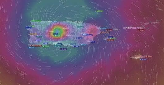 El Ojo de María impactó hoy a Puerto Rico. Fuente externa.