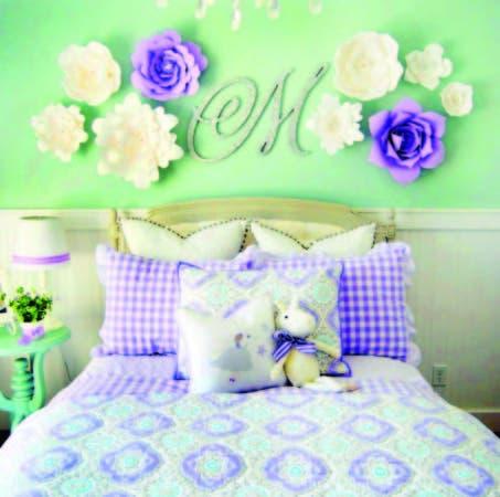 Espacio florecido dentro de la habitación. Puede combinar los colores con el resto de la decoración.