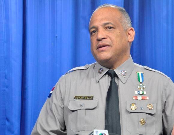 Coronel Frank Félix Durán Mejía, vocero de la Policía Nacional. Foto: Pablo Matos.