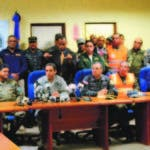 Los generales Juan M. Méndez, Rubén Darío Paulino Sem, Ney Aldrin Bautista, Rafael Antonio Carrasco,