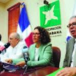 Mario Serrano, Mario Bergés, Marisela Sánchez y Mario Fernández, en rueda de prensa en PC.