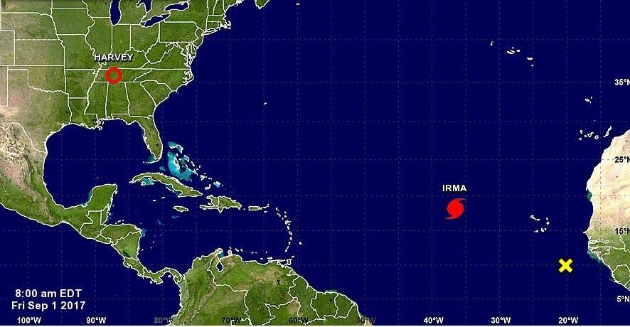 Irma se mantiene como un huracán de categoría 3; ONAMET vigila su desarrollo y evolución