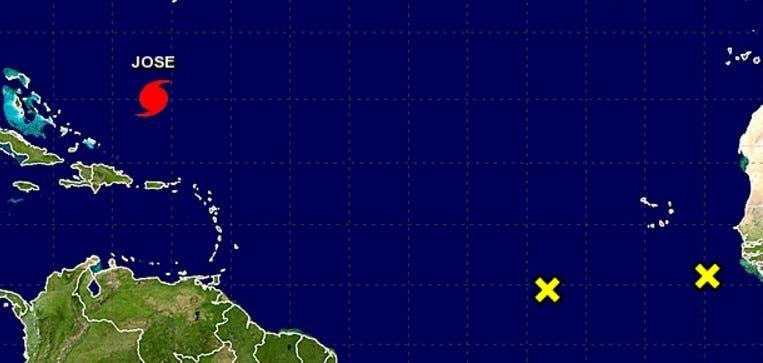 Actividad en el Atlántico. Foto: Centro Nacional de Huracanes.