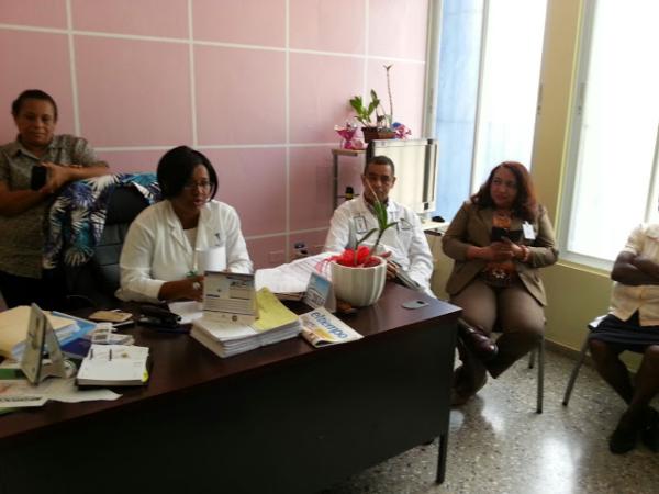 Autoridades del hospital Francisco Gonzalvo de La Romana.