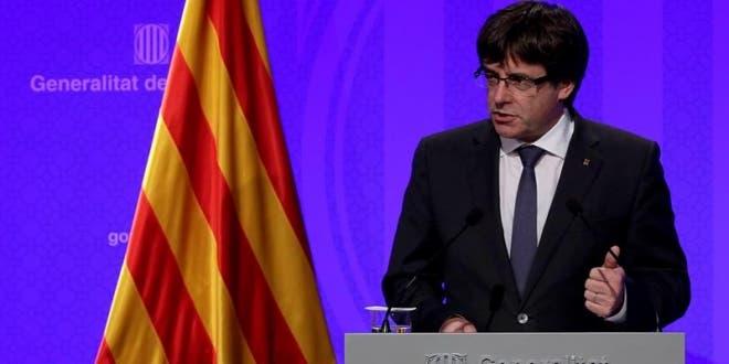 Carles Puigdemont, presidente catalán.