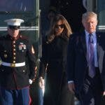 El presidente Donald Trump salió rumbo a Las Vegas acompañado de su esposa, la primera dama Melania Trump. Foto: AFP.