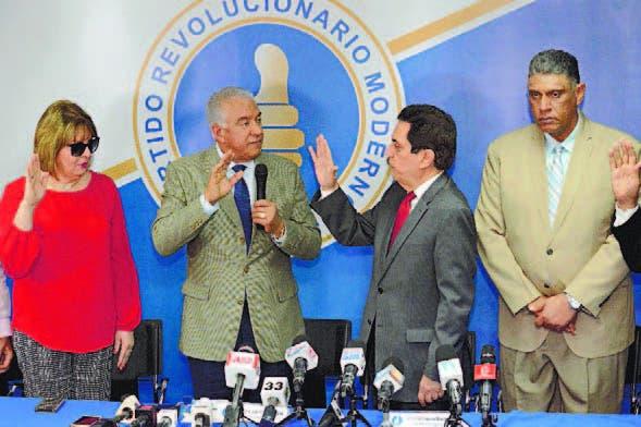 Andrés Bautista, Tony Raful y Jesús Vásquez, dirigentes del PRM.