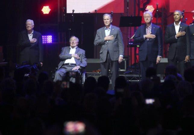 Cinco expresidentes de EEUU y Lady Gaga en concierto para recaudar fondos de apoyo a víctimas de huracanes