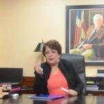 Alejandrina Germán, ministra de Educación Superior durante una entrevista en el Ministerio de Educación Superior, Ciencia y Tecnología, MESCyT. Santo Domingo Rep. Dom. foto Pedro Sosa