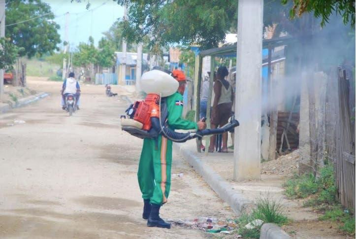 Desarrollan jornada para eliminar plaga de chinche verde en Montecristi