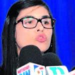 La procuradora fiscal de la provincia de Santo Domingo, Olga Diná Llaverías, mientras ofrece declaraciones