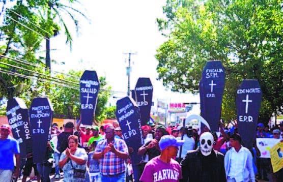 Los manifestantes recorrieron calles de la ciudad