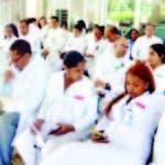 Médicos paralizaron sus labores por tres días en el país; la foto muestra facultativos San Pedro Macorís.