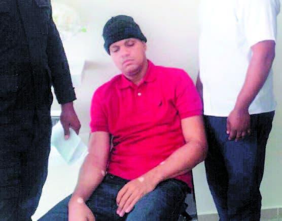 Pedro Castillo - Quirinito- cuando fue llevado al hospital por dolencias