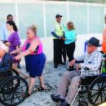 Personas de PR y de RD con discapacidad llegaron ayer a SD por el Ferry del Caribe ante el estado desastroso de la Isla del Encanto