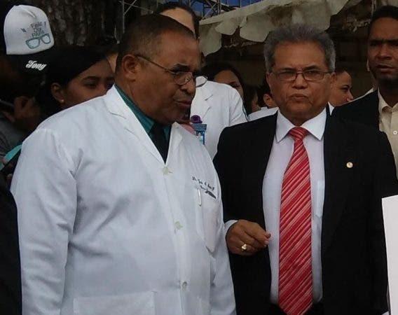 Waldo Ariel Suero anunció que habrá otra huelga por 48 horas la próxima semana. Foto: Xiomara Lara.