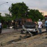 Vehículo involucrado en el accidente. Foto: @DarioPe04849638